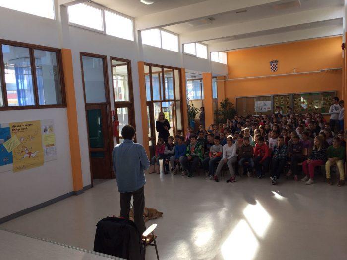 Posjet predsjednika Županijske udruge slijepih Split našoj školi
