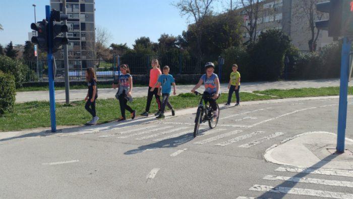 Izvanučionička nastava na školskom poligonu u Splitu